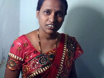 Sweet Married Indian Petite Girl In Saree