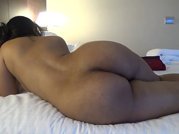 Hot sexy dark-skinned Indian wife sucks deep