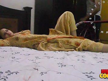 Sonia Bhabhi Black Shalwar Kameez Stripping