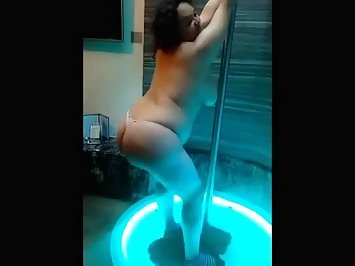 Gorgeous Indian Bhabhi Pole Dancing Nude