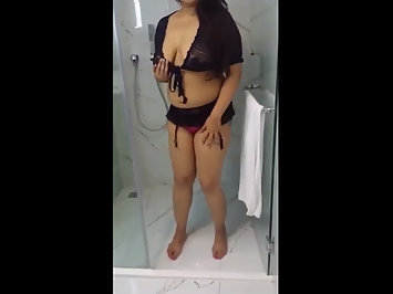 Mumbai GF Naked In Bathroom Stripping Masturbating