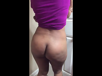 Hot Housewife Shaking Her Big Busty Ass