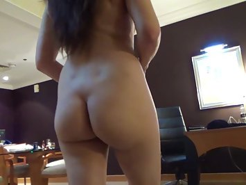 Chubby Indian MILF Walking Nude In Bedroom